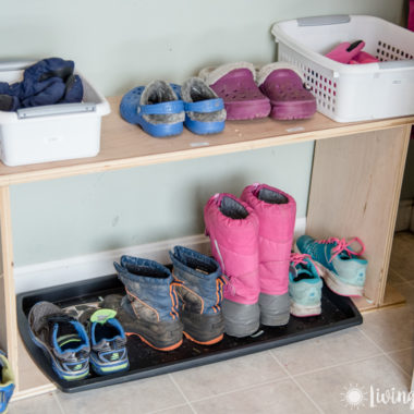 shoes and boots organized