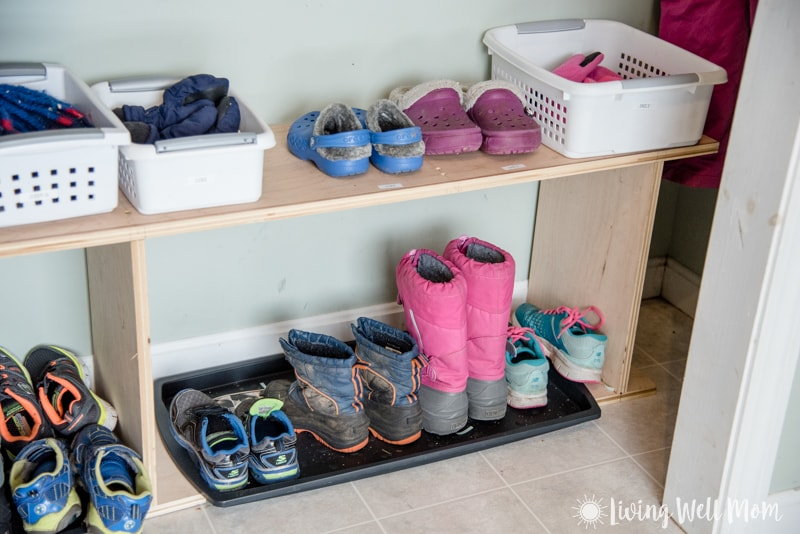 how i organized my kids 39 winter gear living well mom. Black Bedroom Furniture Sets. Home Design Ideas