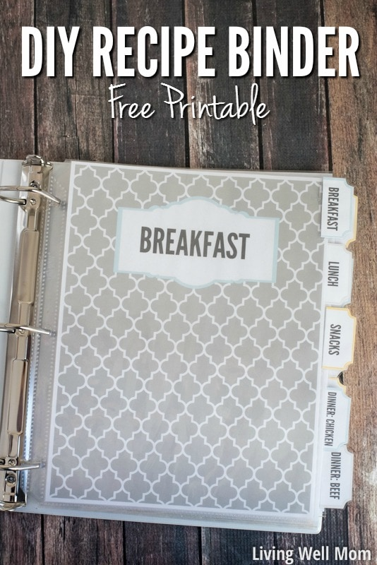 Diy Recipe Book Cover : Diy recipe binder with free printable downloads