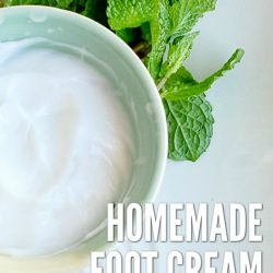 Homemade Foot Cream with Peppermint