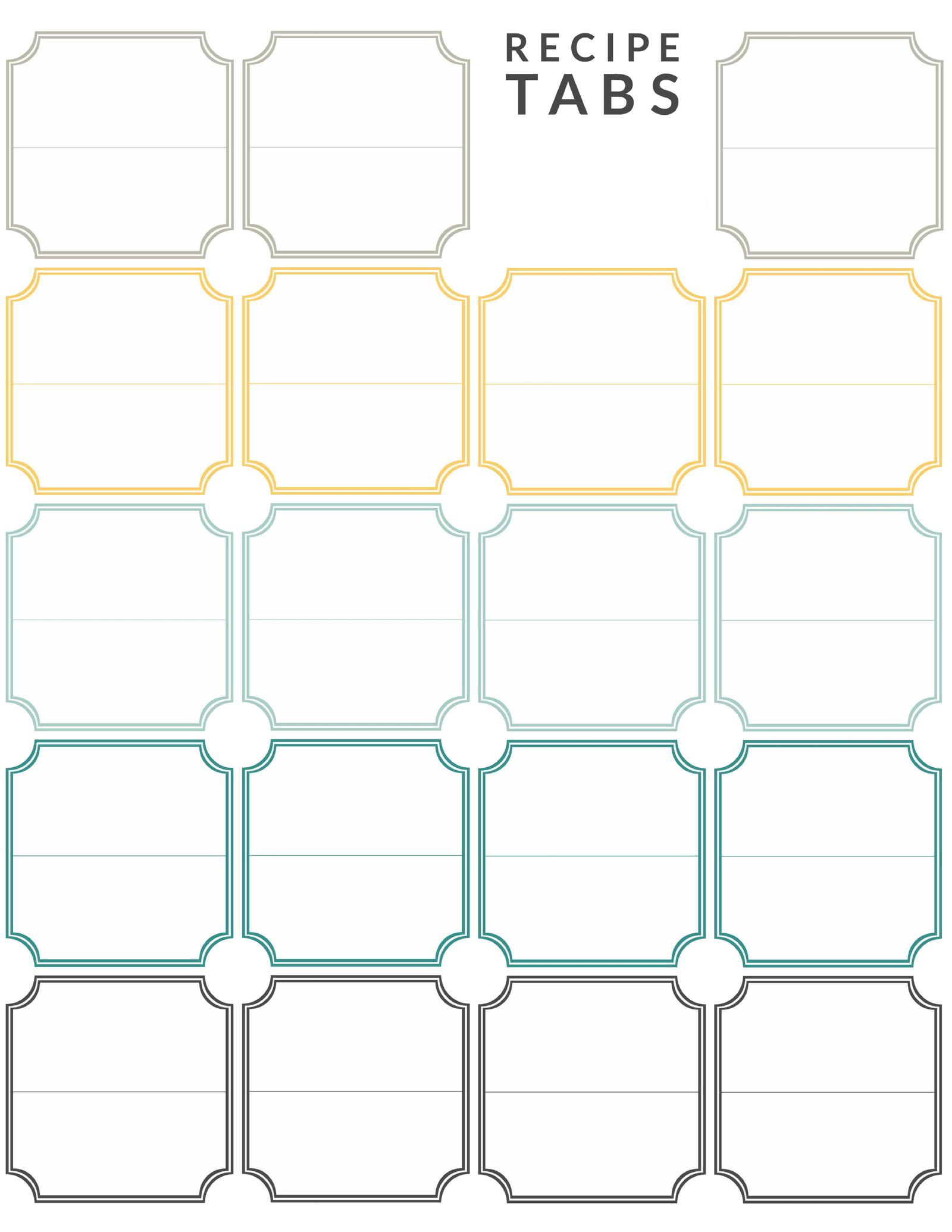 picture regarding Printable Binder Tabs named Do it yourself Recipe Binder (with Absolutely free Printable Downloads)