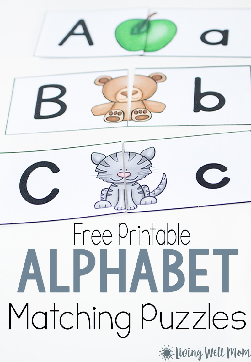 Uppercase Lowercase Letter Matching Puzzle for ...