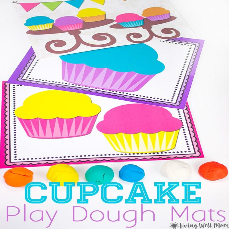 Cupcake Playdough Mats Free Printable Activity For Kids