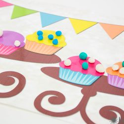 Cupcake Playdough Mats
