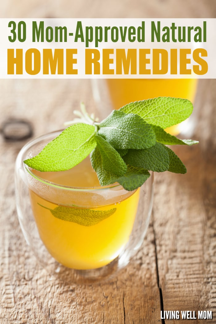 Did you know that many common ailments can be effectively cared for at home, naturally? From earaches, bug bites, allergies, sinus infections, acne, migraines, dandruff, nausea, and more, here's a fantastic list of 30+ Mom-Approved Home Remedies that every mother should read!