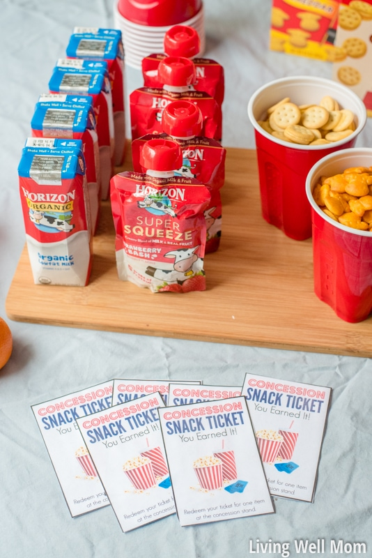 "Make your family movie night amazing (no extra work!) with three simple tips. Plus download our free printable ""concession stand"" tickets that kids will love! You'll save a lot of money compared to going out to the theater and still have a blast!"