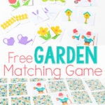 Spring Matching Game for Preschoolers (Free Printable)