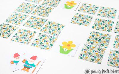 printable matching spring game