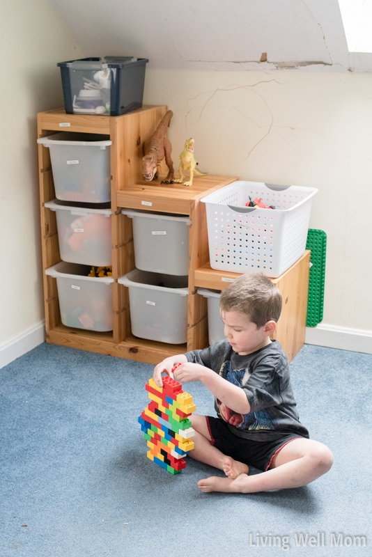 Had enough with toys everywhere? Save time, money, and frustration with this simple secret for organizing kids' toy. Plus how to get your KIDS to organize their own toys!