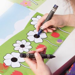 Flower Coloring Mats for Kids {Free Printable}