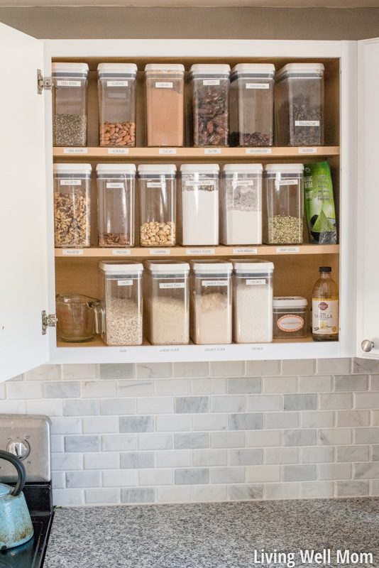 Tired of losing track of what's in your kitchen food cupboards? Don't miss these two simple tips that will transform how you organize food storage areas & make life so much easier!