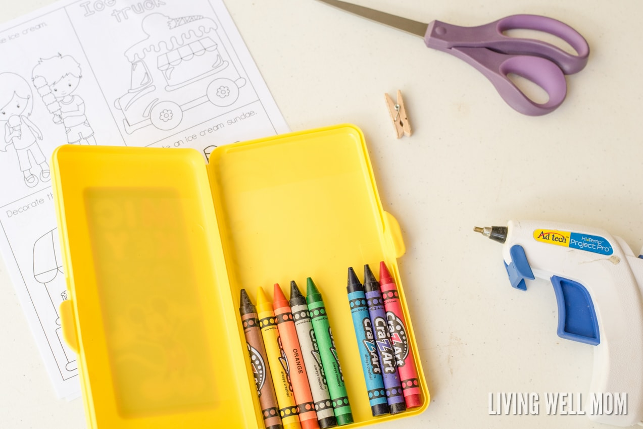 Diy travel coloring kit for kids with free printable for Beatrice doesn t want to coloring page