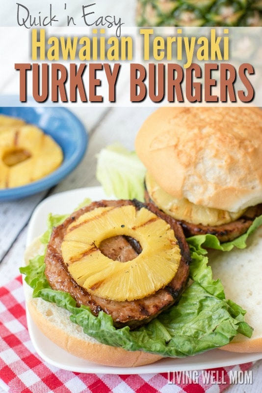 Here's a tasty twist on a classic grilled burger - Hawaiian Teriyaki Turkey Burgers! These delicious burgers are very quick and simple to make and a favorite with the whole family, including kids! Get the easy recipe here and pop them on the grill today!