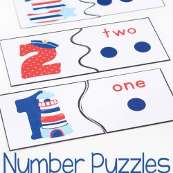 Number Recognition Puzzles {Free Printable}