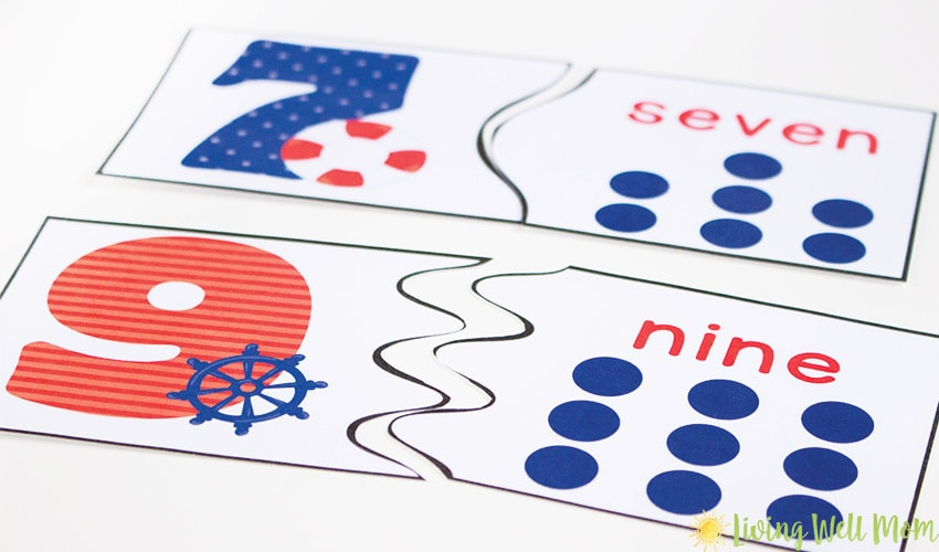 Number Recognition Puzzles