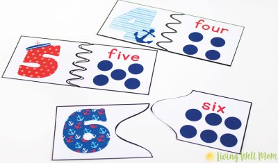 printable number game activity with dots