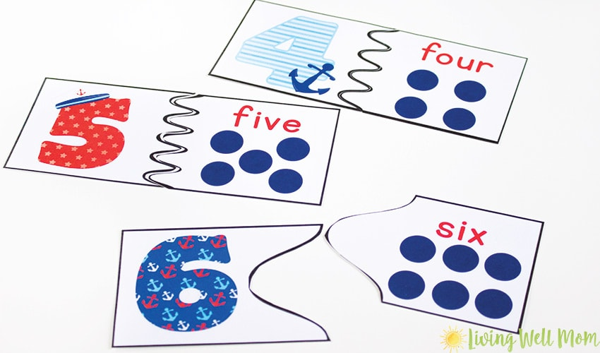 Number Recognition Puzzles - Free Printables