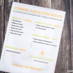 School Vacation Rules | The Sanity-Saver for the Whole Family