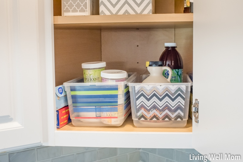 That tricky corner cupboard in your kitchen can be tough to organize! Here's a few simple ideas for making the most of that space without any fancy organizing tricks or purchases required!