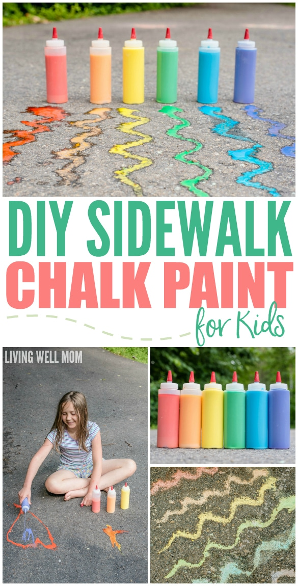 DIY Sidewalk Chalk Paint for Kids in Less than 5 Minutes