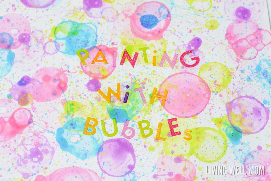 bubble painting close up