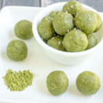 """In just 5 minutes, you can whip up a batch of these delicious Matcha Green Tea Energy Bites. This recipe is a perfect healthy pick-me-up for any time of the day. (Gluten-free, dairy-free, grain-free, and Paleo-friendly) """
