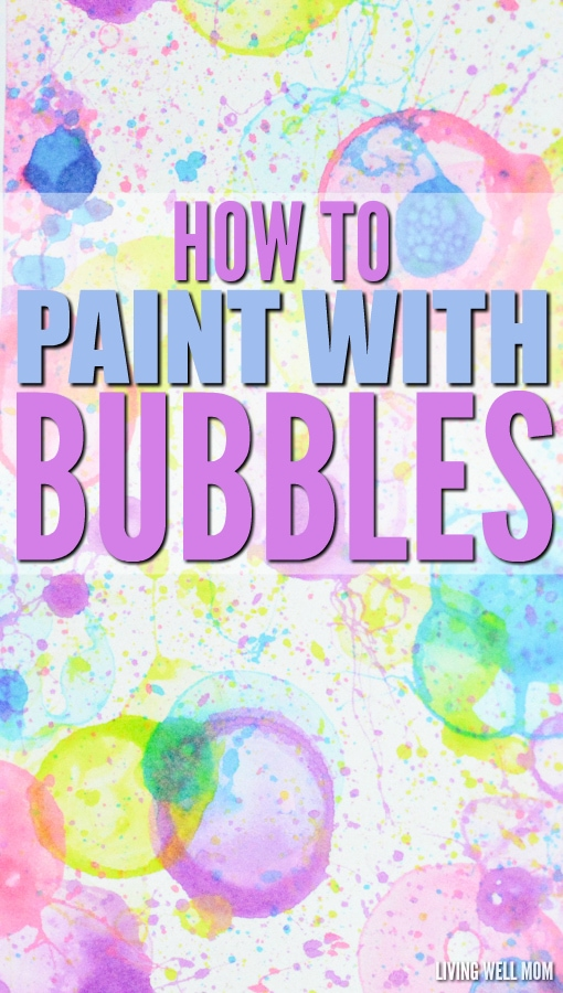 Blowing Bubbles Make Up Painting