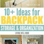 Are the kids back in school? These 10+ simple solutions for backpack storage and organization problems couldn't have come at a better time!