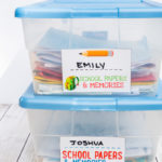 How to Store School Papers & Memories (Free Printables)