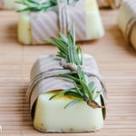 Homemade Rosemary Citrus Goat's Milk Soap