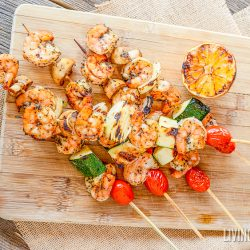 Lemon Garlic Grilled Shrimp