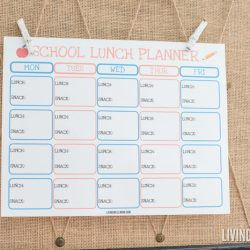 Free Printable School Lunch Planner