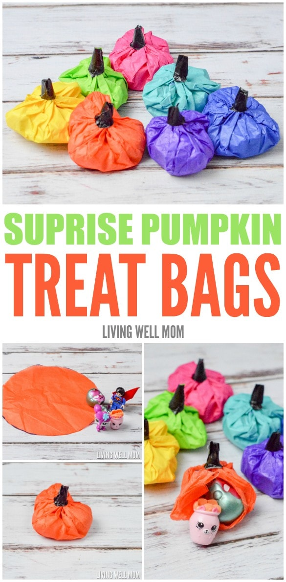 Surprise Pumpkin Treat Bags collage