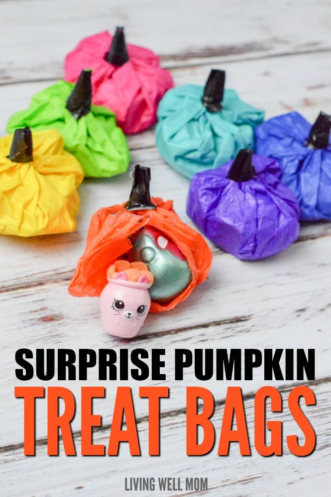 "Forget all that candy and hyped up children! These Surprise Pumpkin Treat Bags can be filled with non-candy surprises that kids will love just as much. Perfect for party favors, classrooms, or at-home fun, these ""pumpkins"" are quick and easy enough for kids to help make!"