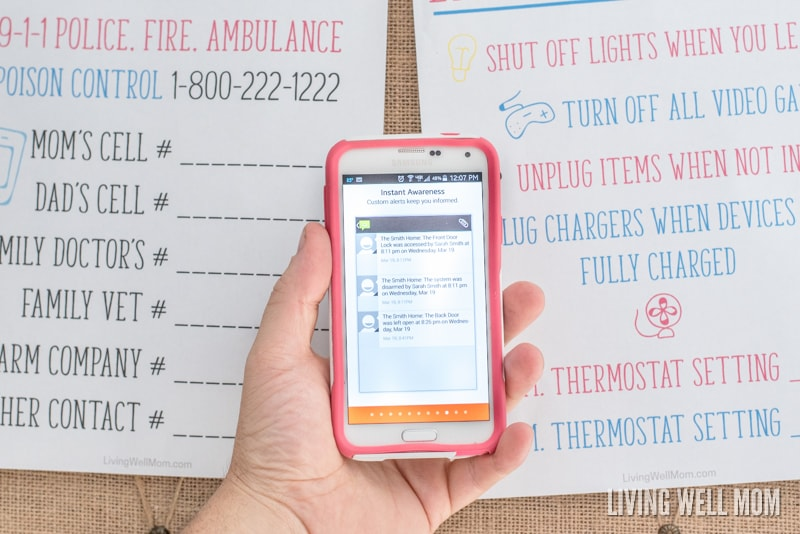 Do you need to be more prepared if an emergency were to happen? Here's 4 simple home safety ideas that will help give you and your family peace of mind, plus a Free Printable Emergency Numbers List and Energy Savings Plan.