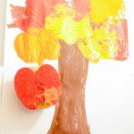 Apple Stamping Preschool Craft: Make a Colorful Fall Tree!