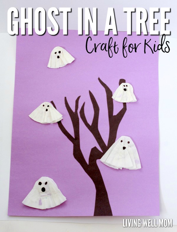 Ghosts in a Tree, an easy Halloween craft for kids.