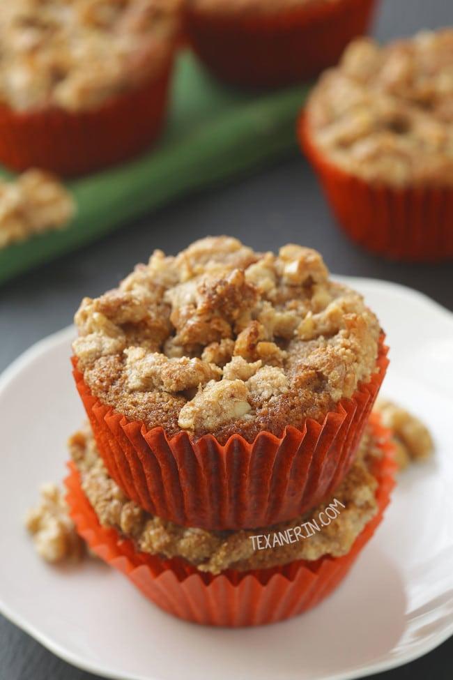 Carrot Cake Cream Cheese Muffins (grain-free, gluten-free)