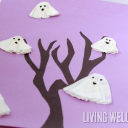 Ghosts in a Tree Craft for Kids
