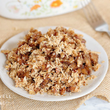 healthy low carb paleo apple crisp