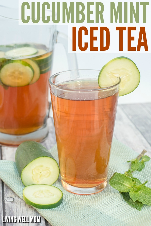 Lightly sweetened with a touch of honey, this Cucumber Mint Iced Tea recipe is simple to make and the perfect way to add a refreshing twist to an iced tea.