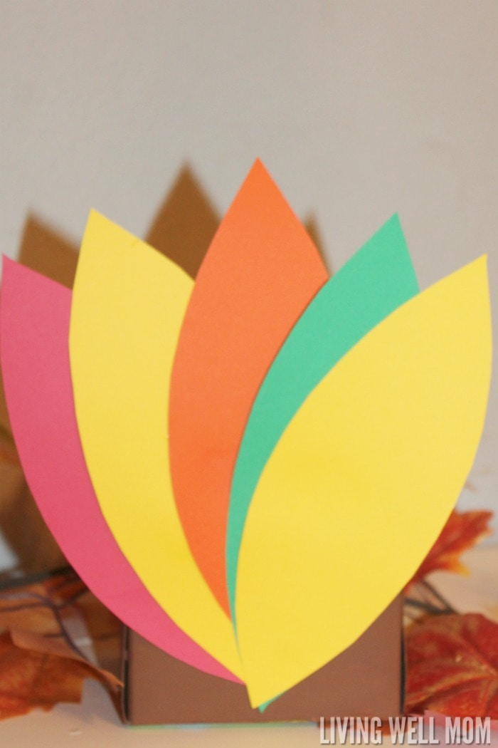 "Thankful Turkey Box - this Thanksgiving activity is a fun way to teach kids how to count blessings and discover how much you have to be thankful for. Add ""thankful"" slips each day and open the box on Thanksgiving day!"