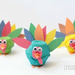 Egg Carton Turkeys Craft