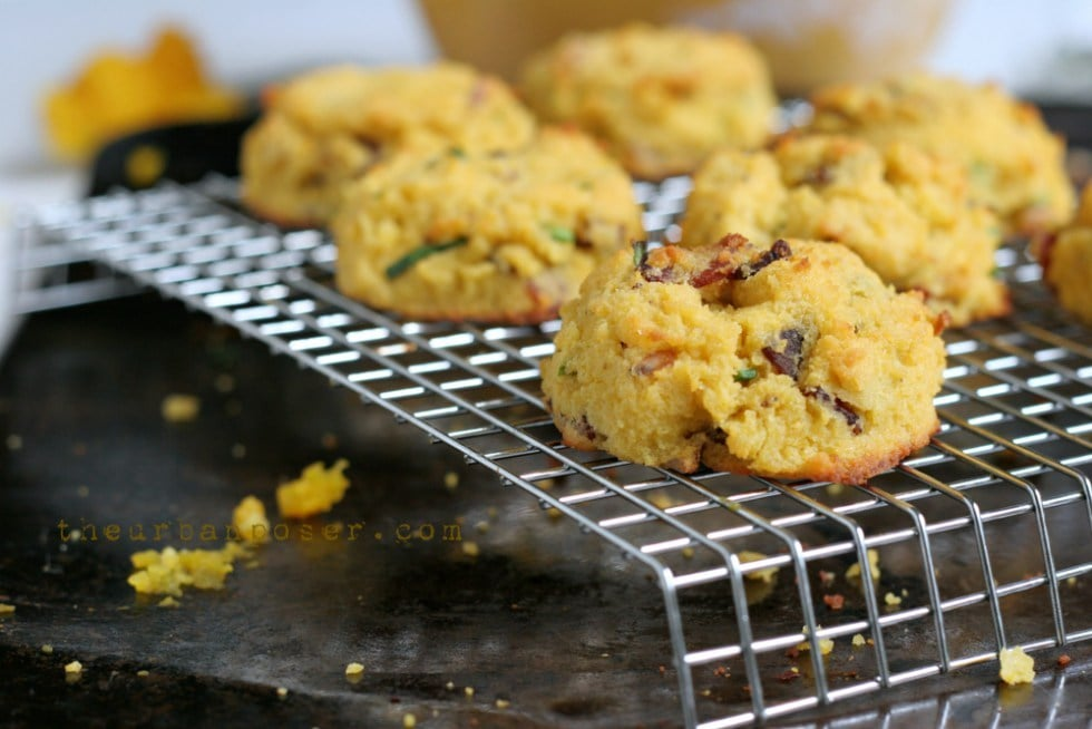 Paleo Pumpkin, Bacon, and Chive Biscuit | The Urban Poser
