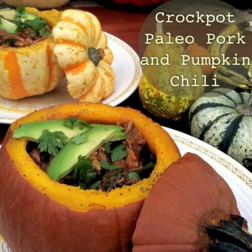 Crockpot Paleo Pork and Pumpkin Chili