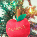 Cinnamon-Scented Felt Apple Ornaments