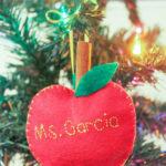 Cinnamon-Scented Felt Apple Ornaments
