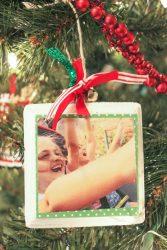 Wood Photo Ornaments