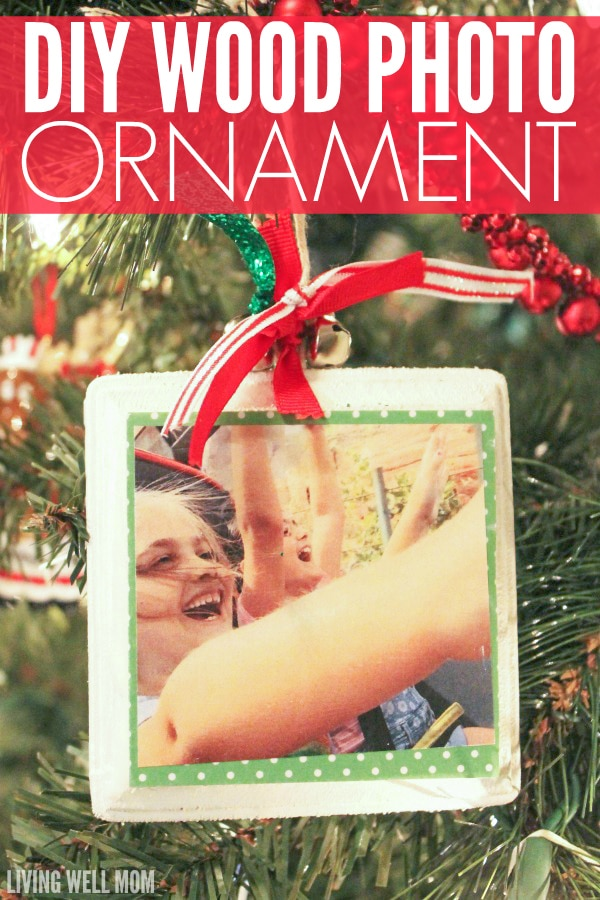 Wood photo ornaments are a wonderful way to add heartwarming memories to your Christmas tree. This easy craft for kids is simple to make and great as homemade gifts for Grandma too!