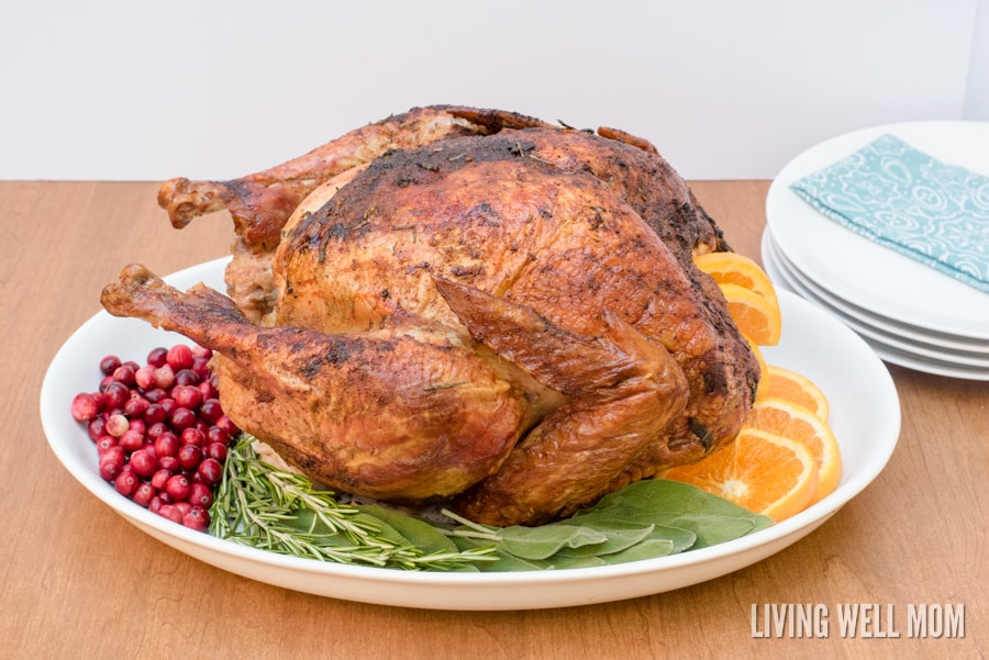 Savory Herb Rub Roasted Turkey Recipe — Dishmaps
